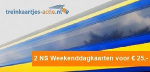 NS Weekenddagkaart aanbieding