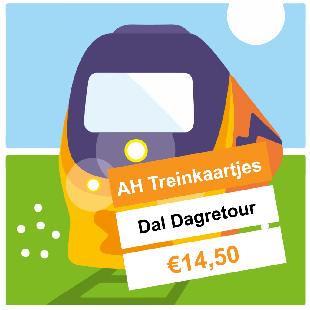 AH Treinkaartjes: NS Dagretour Daluren in november 2019